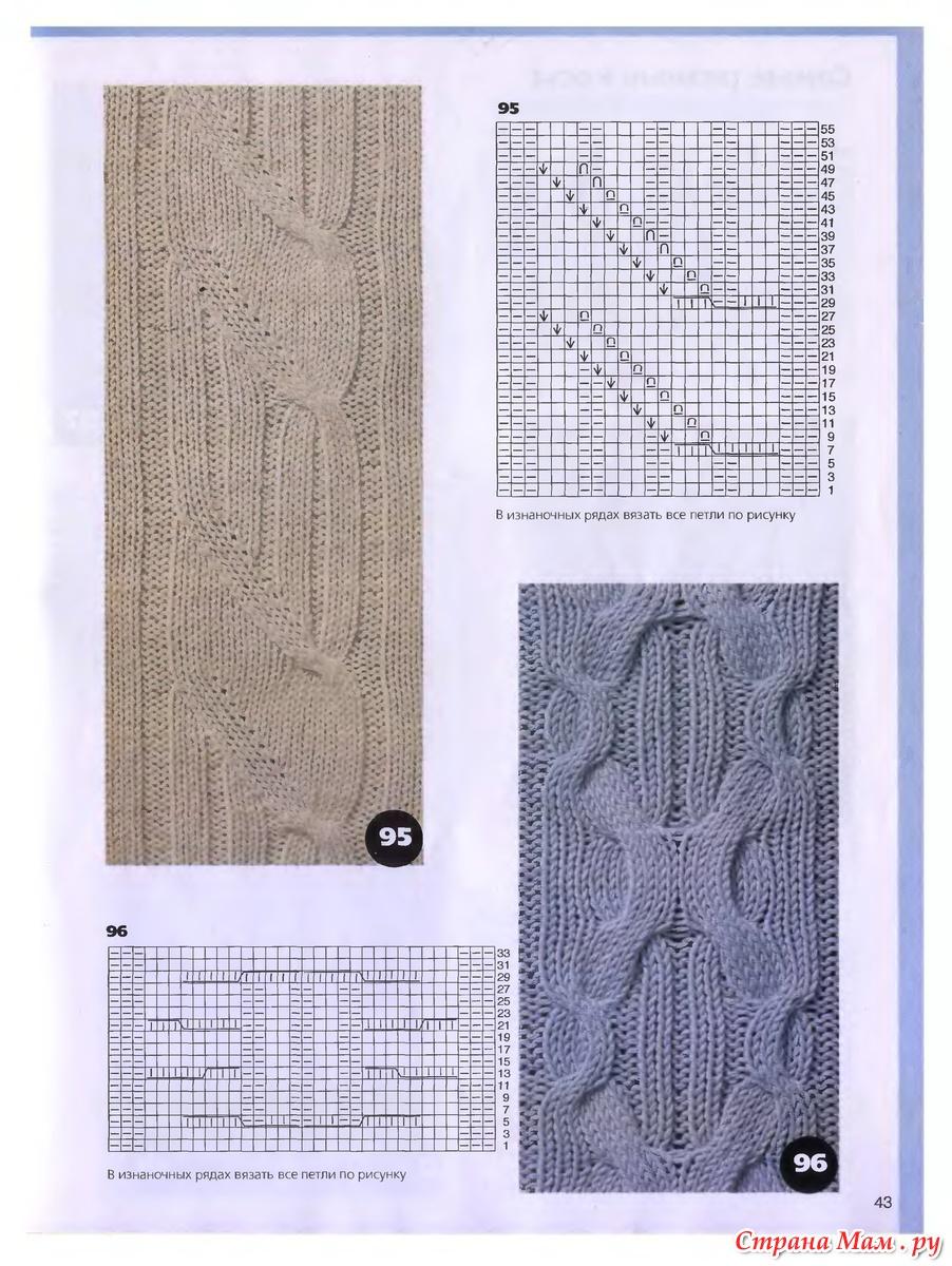 Патентные узоры. Вязание спицами. Вязание на спицах