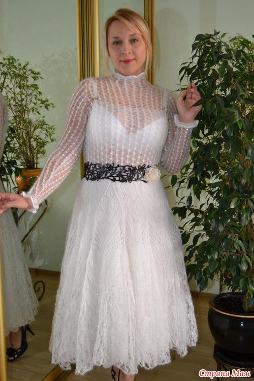 вязаные платья из мохера
