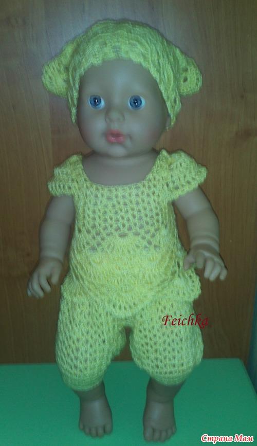 Вязание одежды для кукол беби