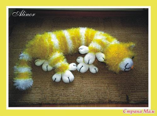 Кот связанный из травки
