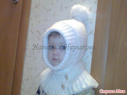 Детская шапочка-шлем!
