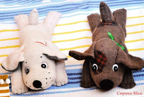 Мягкие игрушки с носков