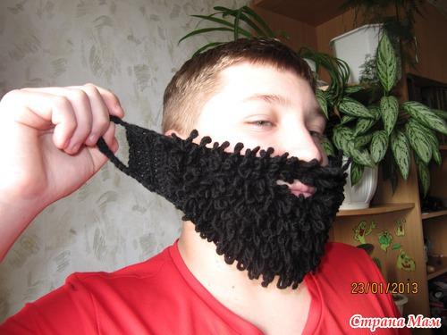 Как связать шапку-борода