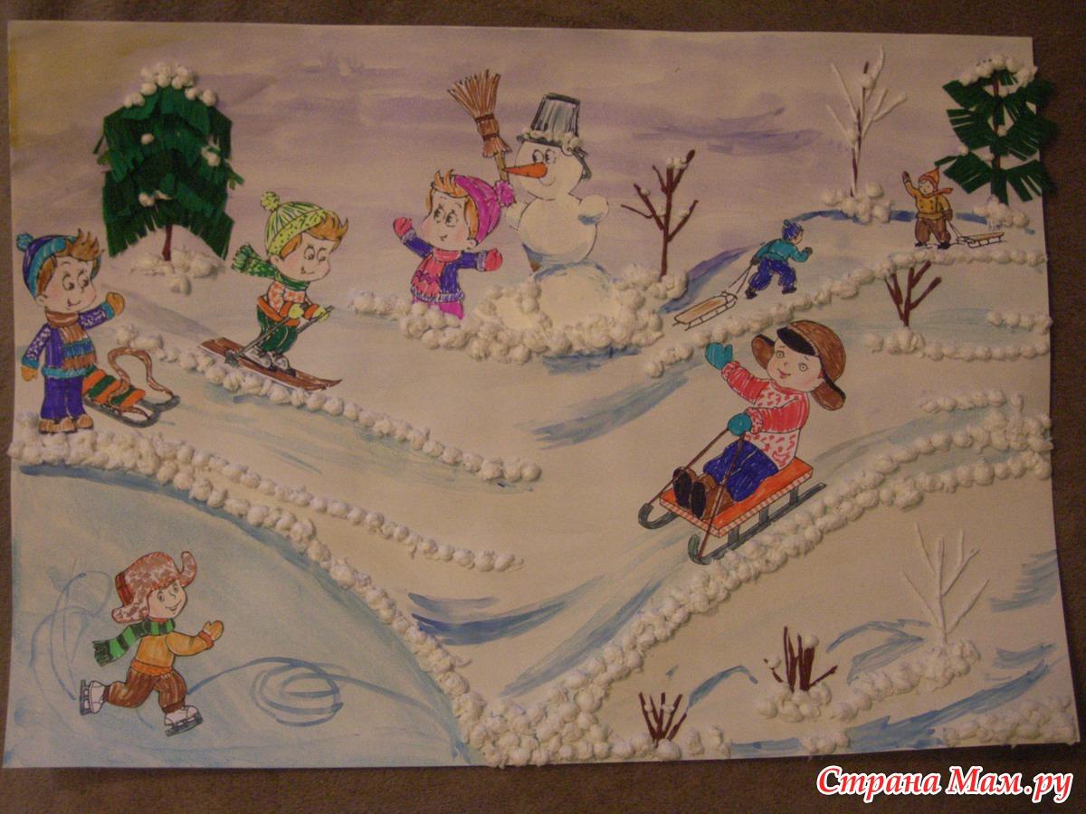 поделка на тему зимняя сказка в садик