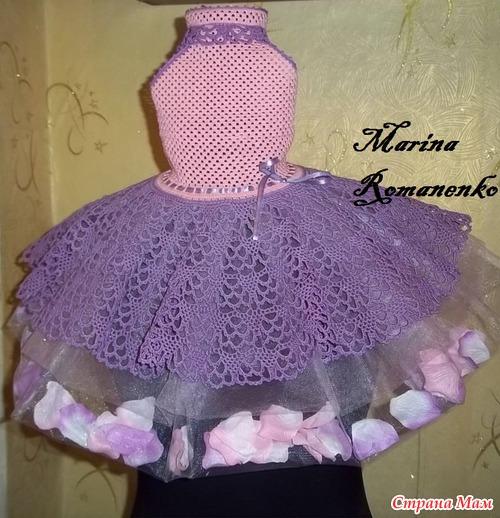 """Нарядное платье """"цветочная фея""""."""