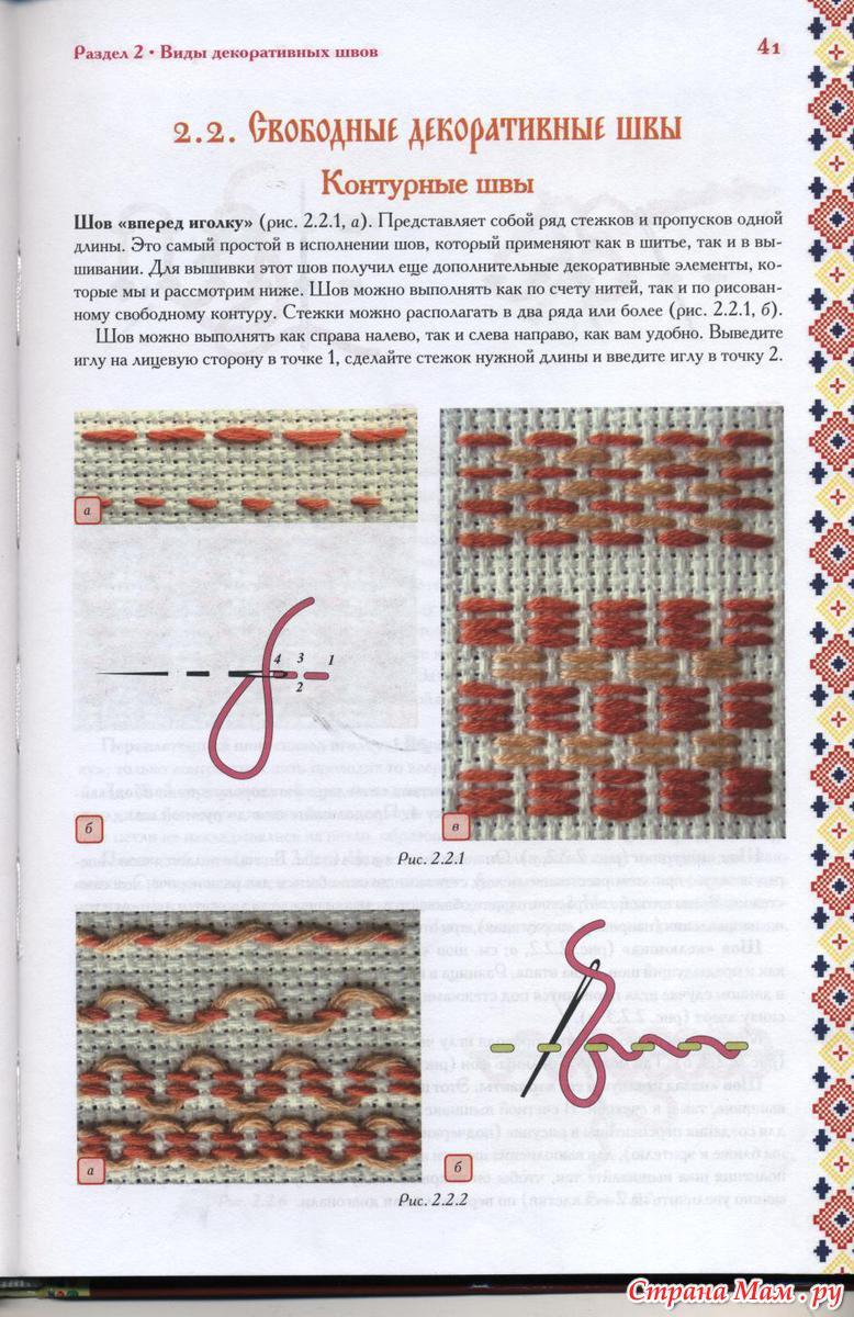Разные швы для вышивки 846