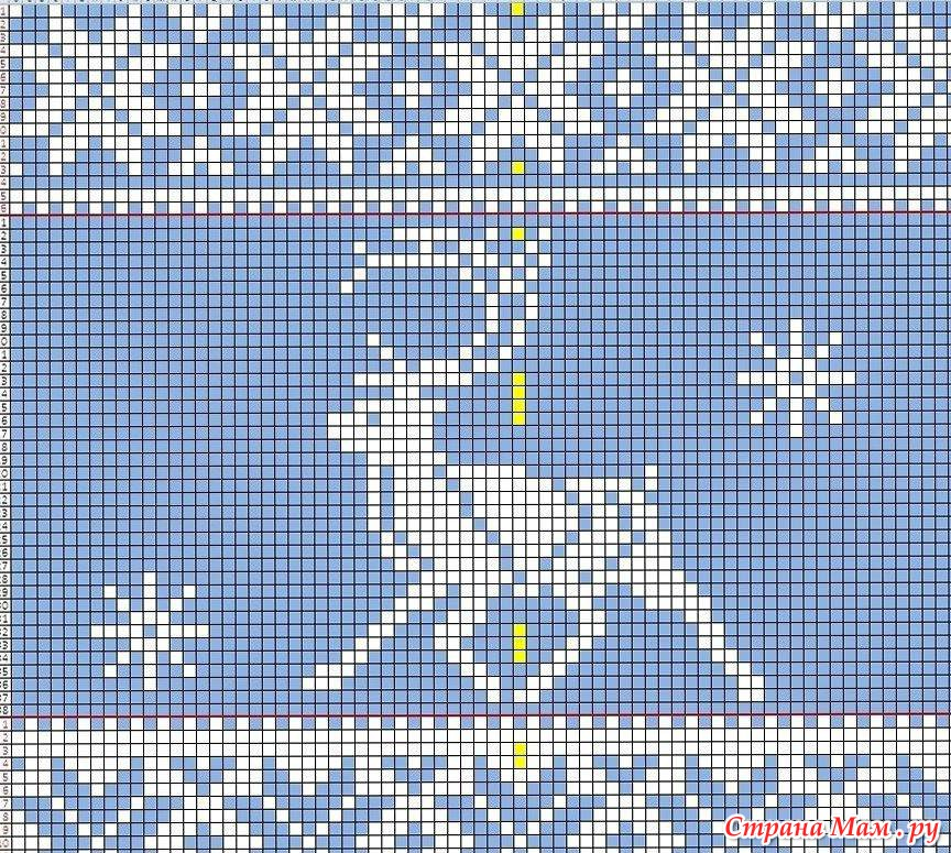 Жаккард с оленями