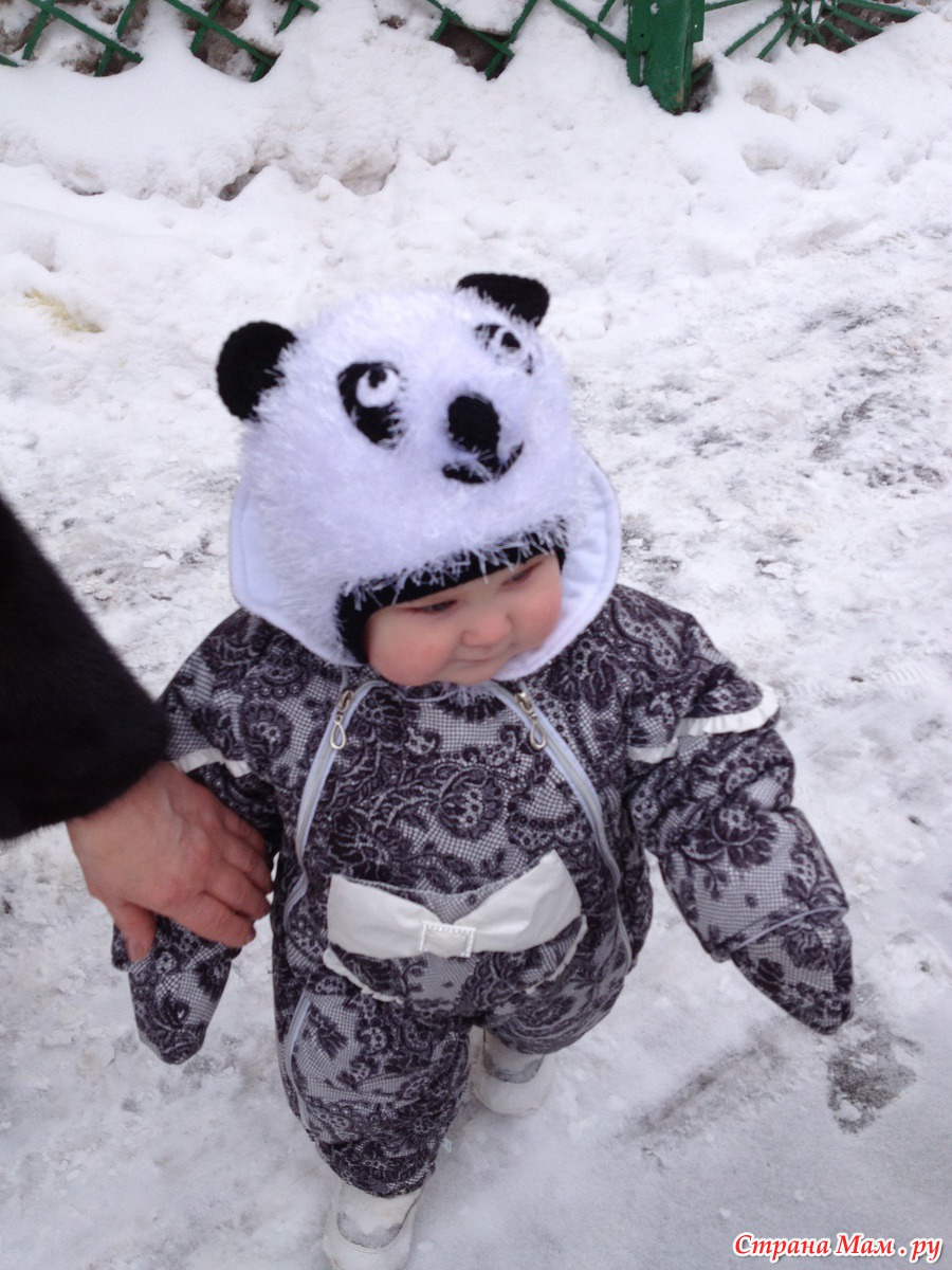 шапка панда схема