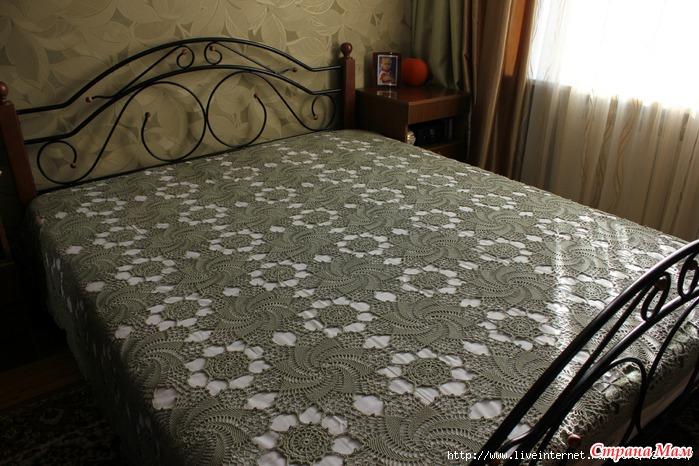 Шикарное покрывало на кровать.