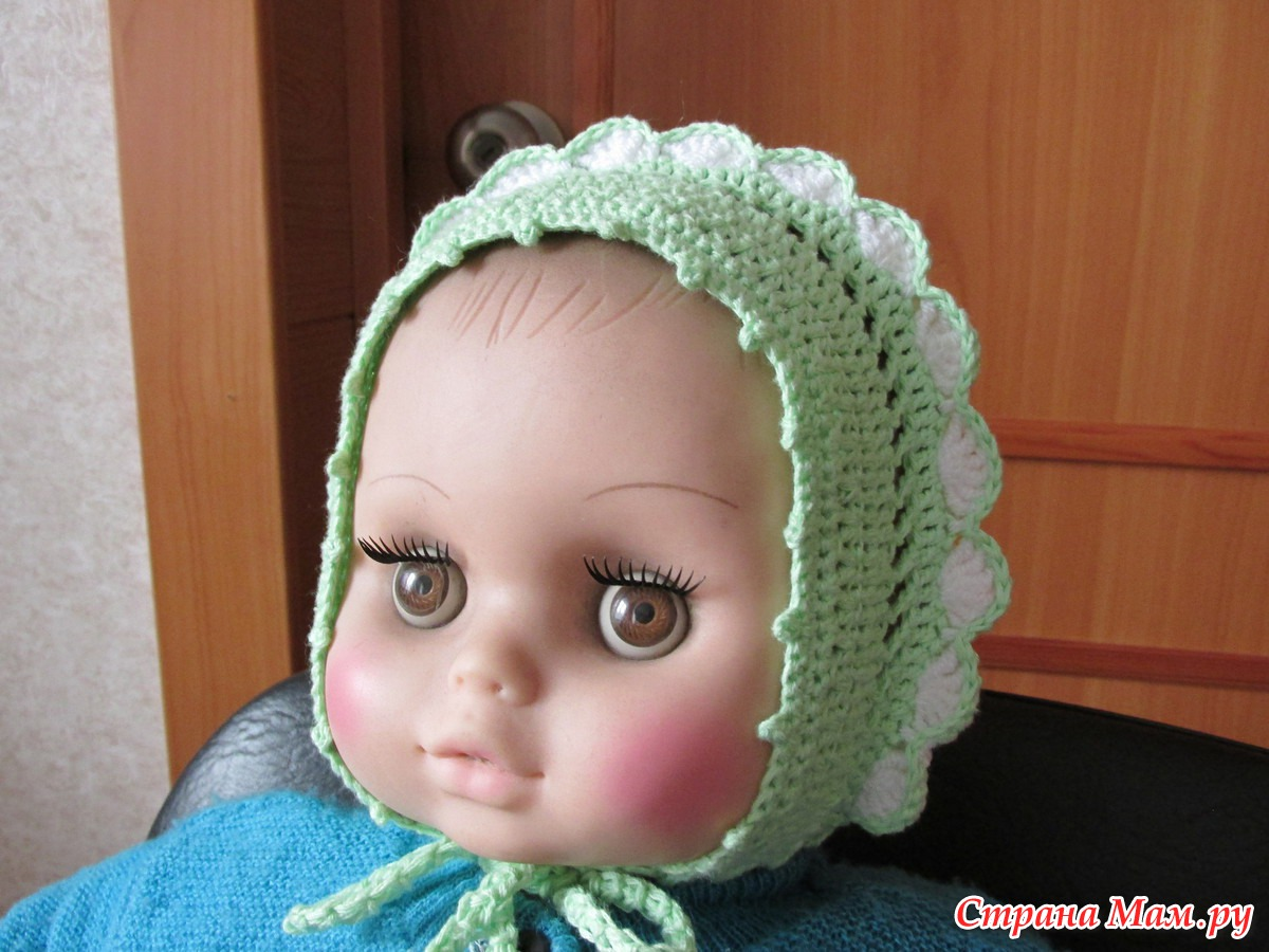 Вязание для маленьких чепчик