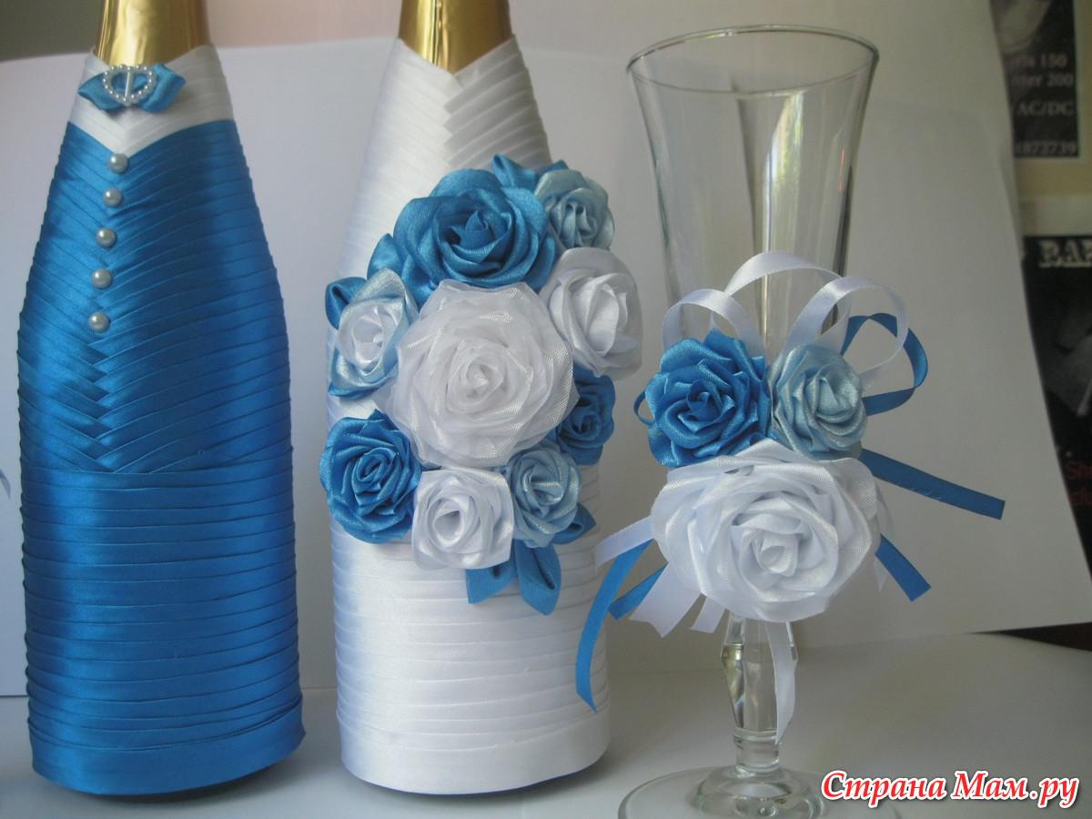 Украшение свадебных бокалов своими руками: 100 мастер классов 89