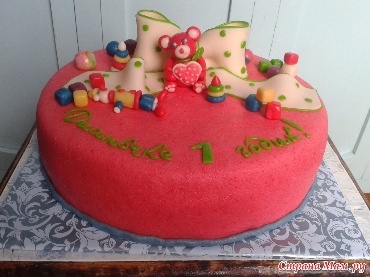 Украшение детского торта фото