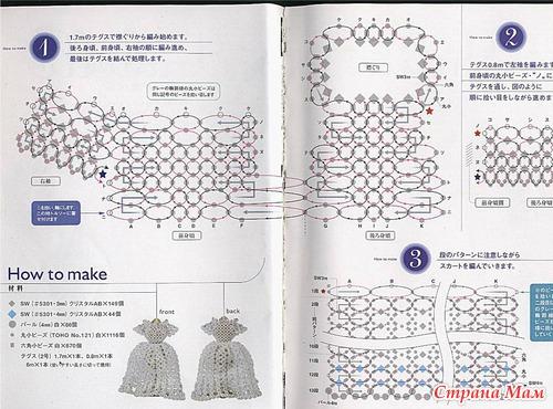 Бисер надо хороший, качественный для таких поделок, лучше японский.  Очень красивые платья из бисера из книги по...
