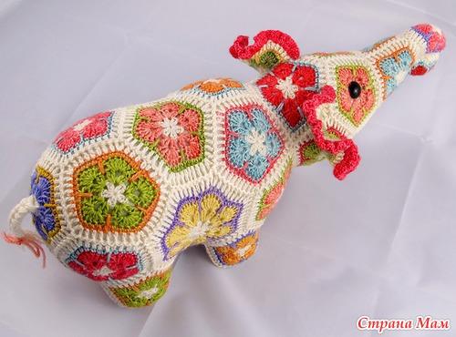 Вяжем Цветочного Слона!