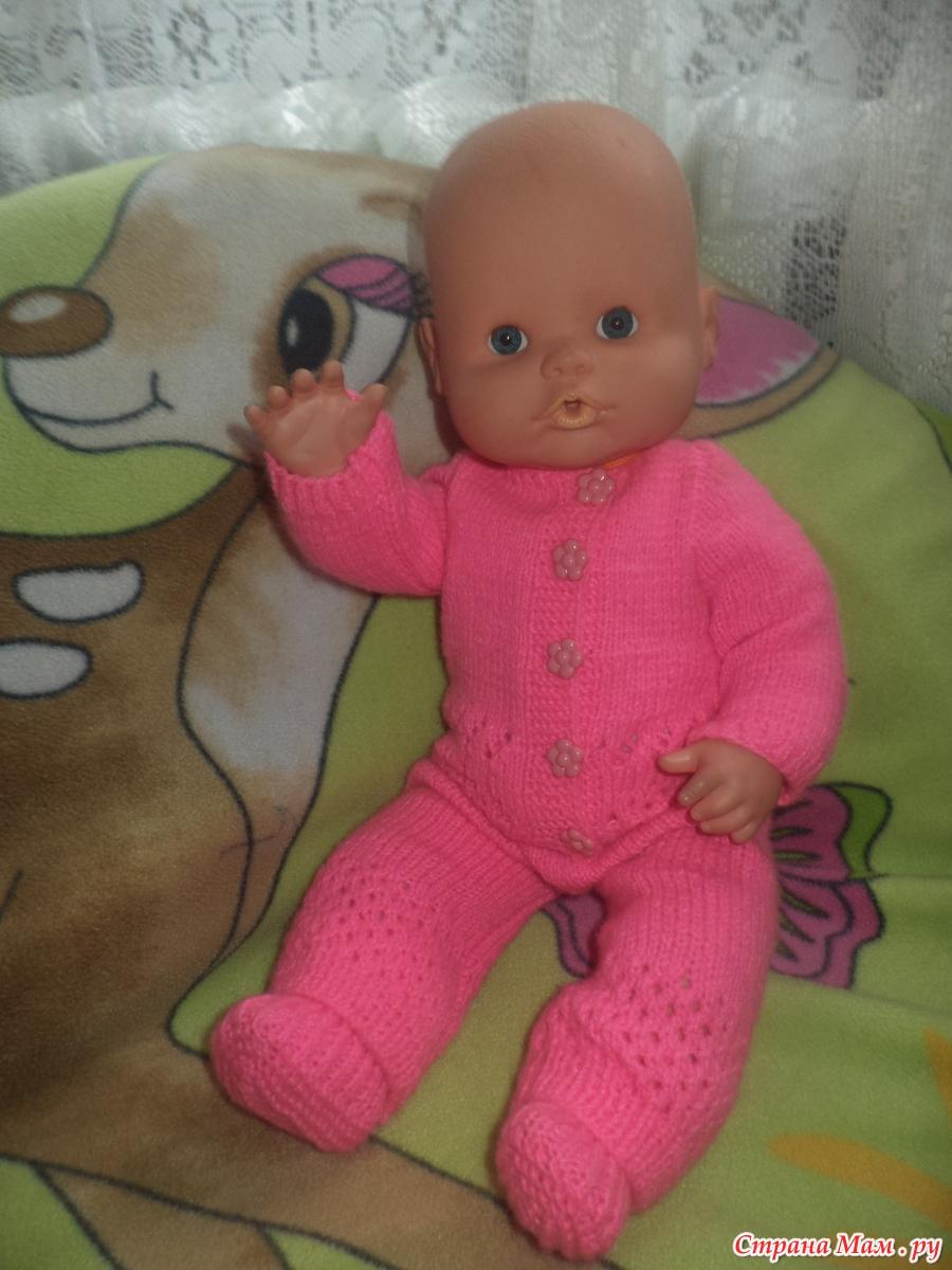 Вяжем одежду на куклу бебиборн своими руками
