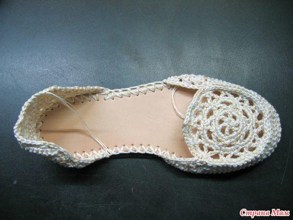 Вязаная обувь крючком своими руками