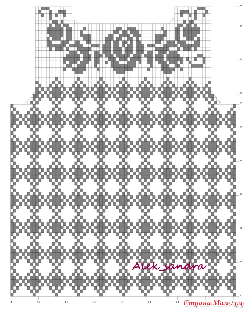 Филейное вязание кофт