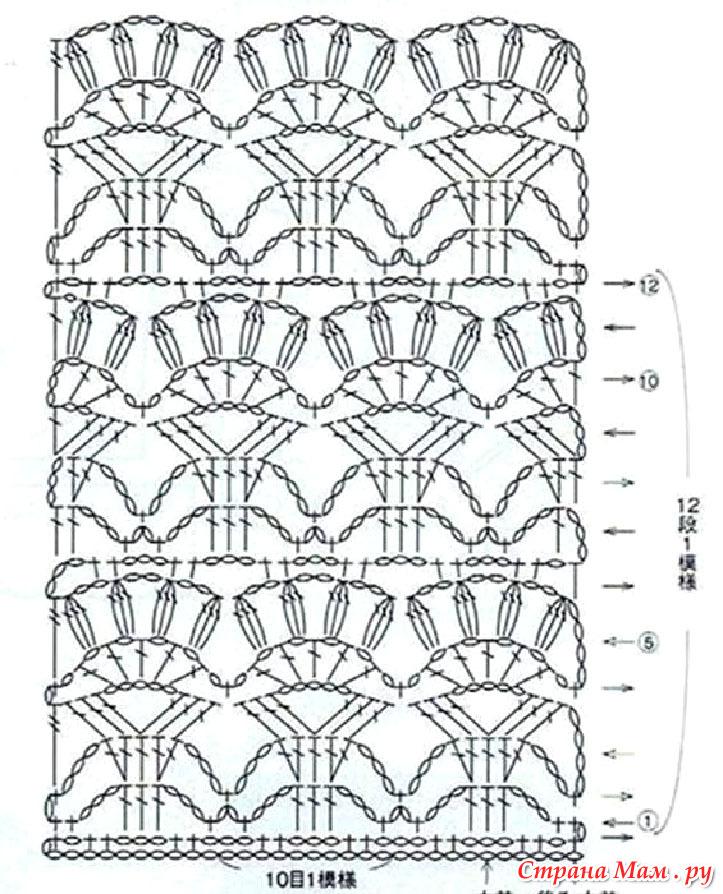 Крючок вязание узор лилии