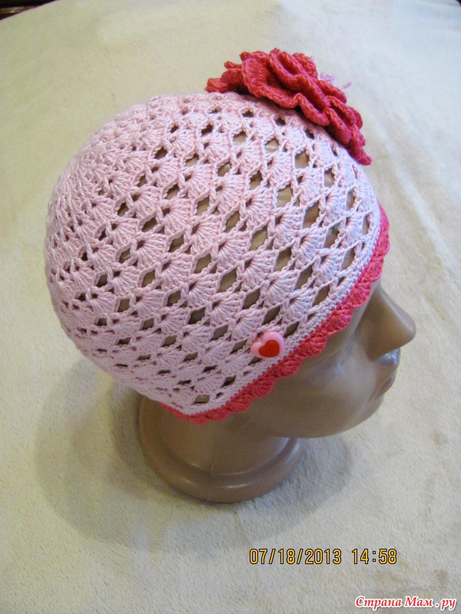 Вязание детских шапочек для лета