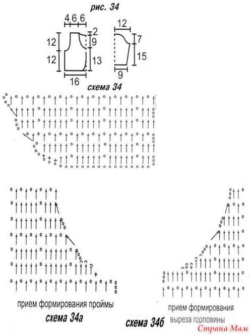 Схема вязания крючком болеро на детей