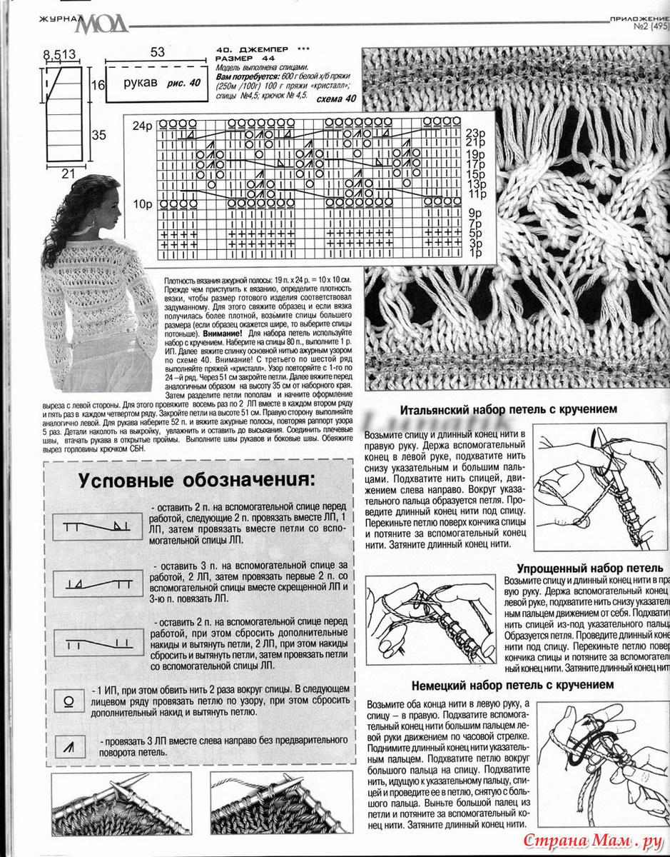 Как связать свитер рубан схема вязания спицами