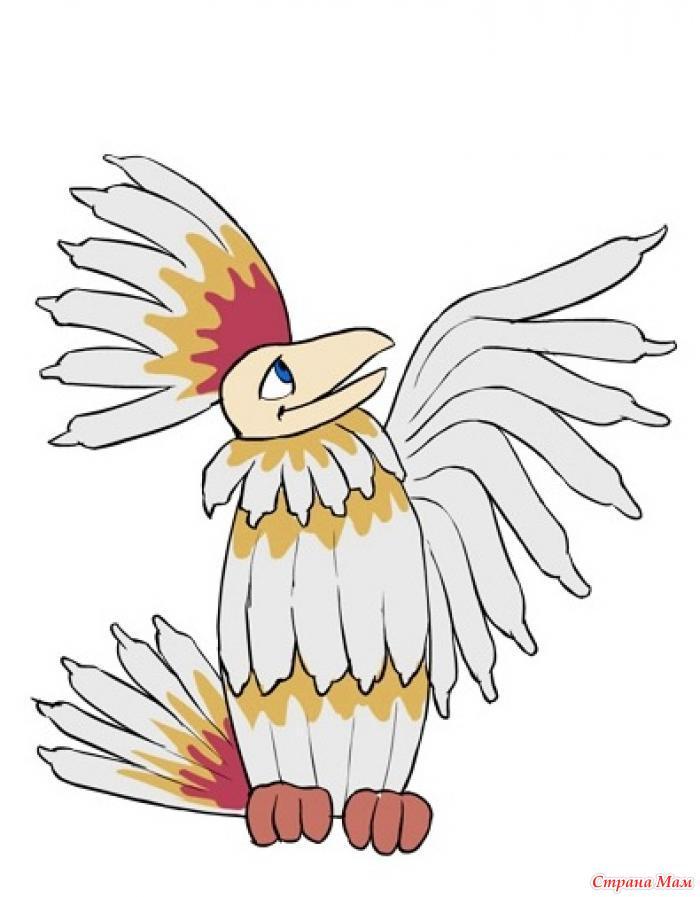 Птица говорун рисунок