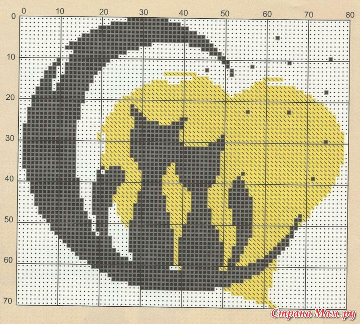 Схема вышивка крестом кошки монохром