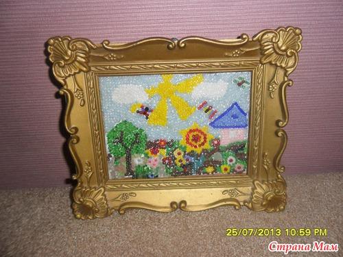 Давно уже мы с дочкой сделали картину из бисера.  Вдохновились в магазине.  Там продавали большие картины, выложенные...