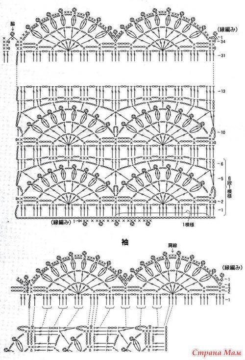 Вязание крючком туники на лето схемы