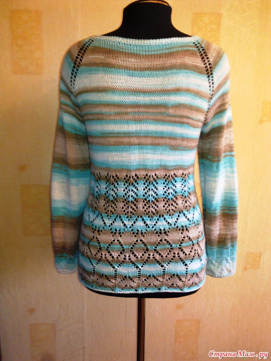 Вязание спицами из ализе белла батик с описанием 98