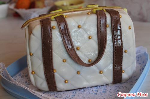 Купить торт в виде женской сумки от кондитерской Торт