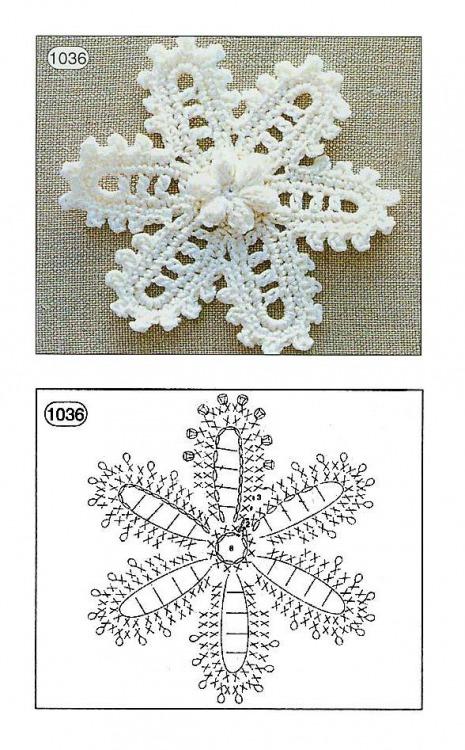 Вязание крючком ирландский цветок схемы