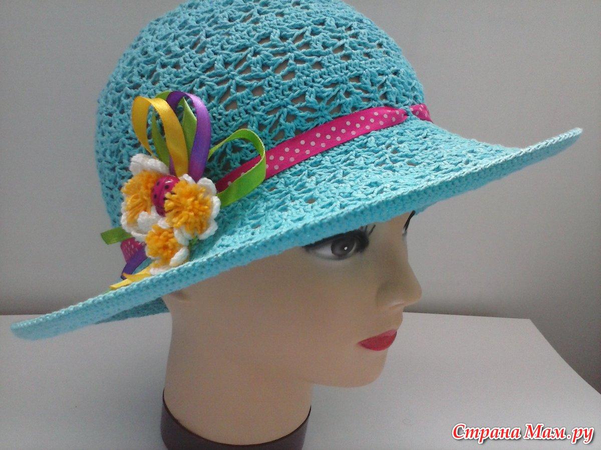 Вязание крючком детские панамки шапочки и шляпки мастер класс