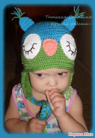 Зимняя шапка с помпоном.