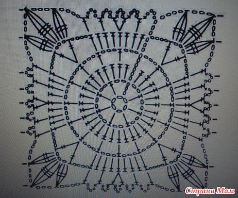 схем вязания квадратных