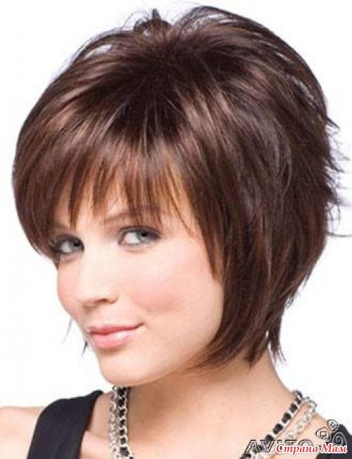 Модные причёски для круглых лиц