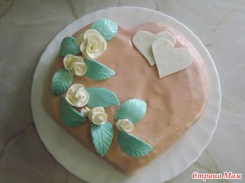 бисквитный торт с мастикой фото