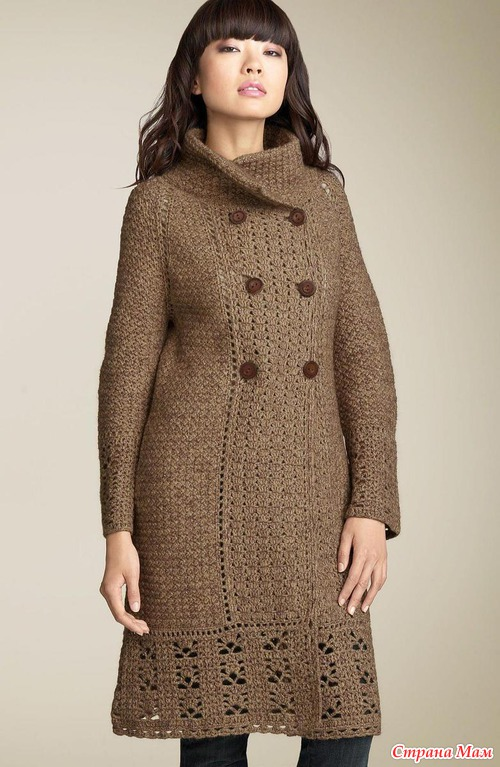 Вязаное пальто от Дианы вон Фюнстенберг