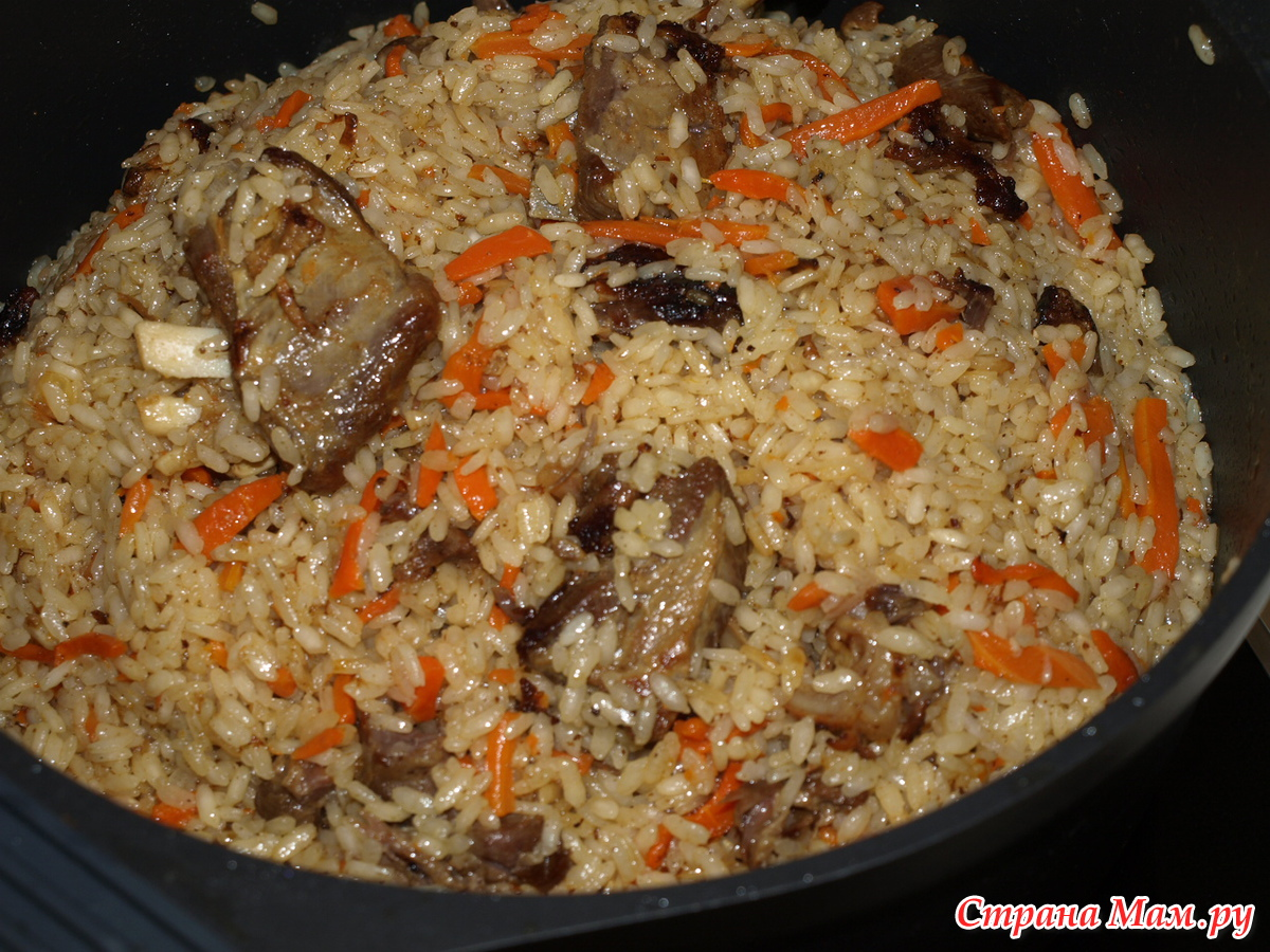 Рецепт узбекской плова в домашних условиях
