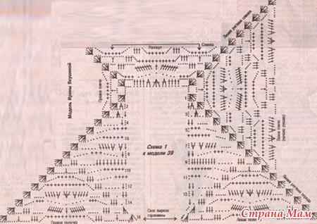 схема вязания кофты от горловины