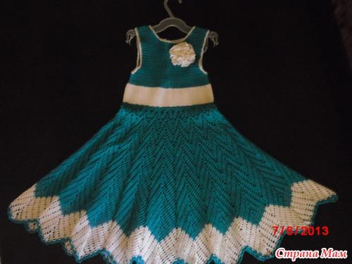 Платье крючком на девочку 5 лет