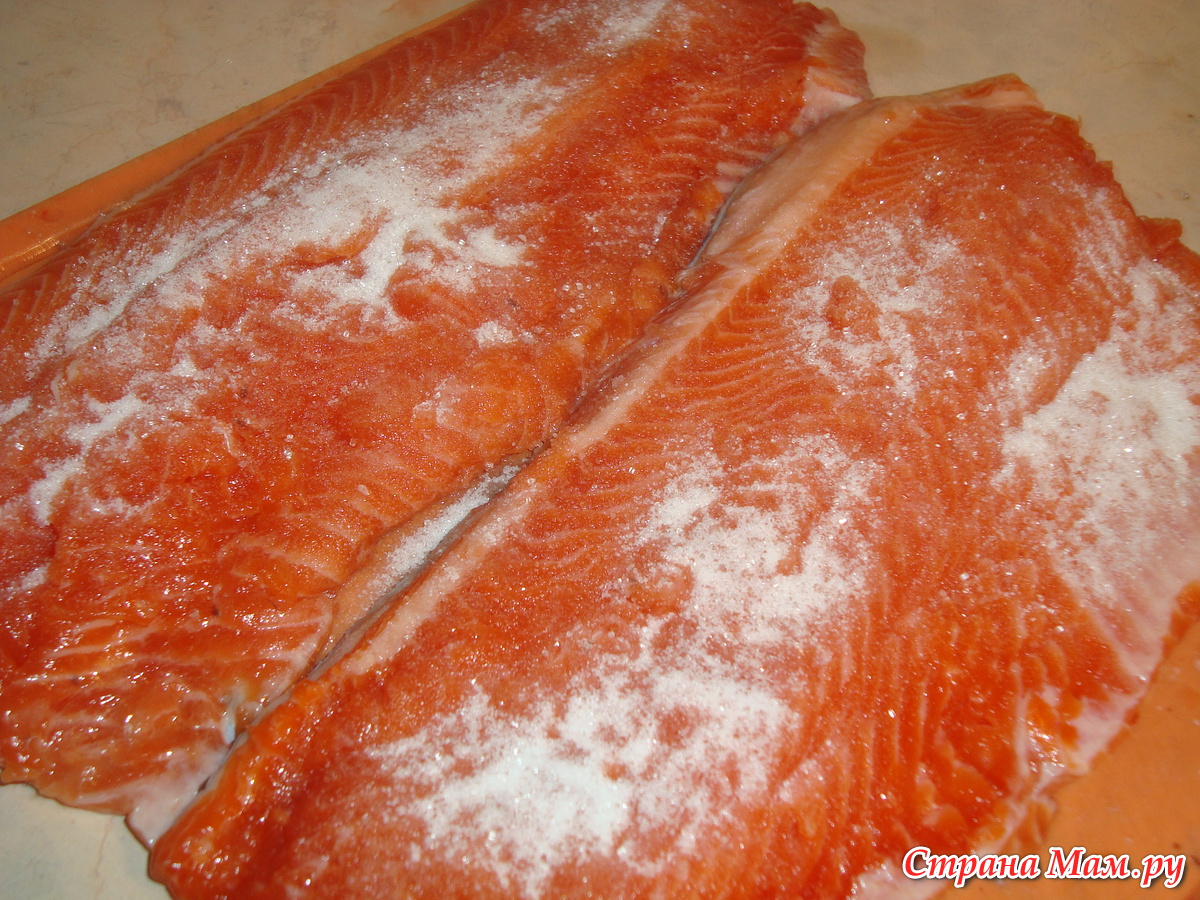 Засолка красной рыбы в домашних