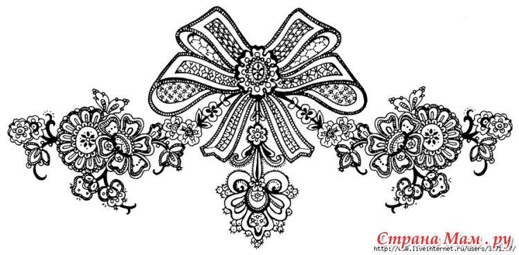 Русские кружева в рисунках