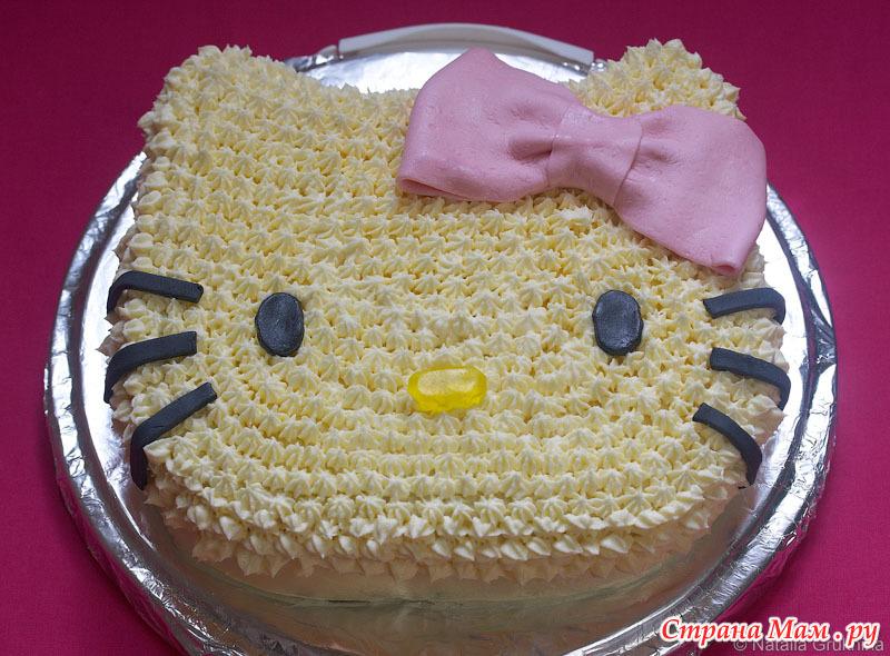 Детский торт из крема рецепт с фото