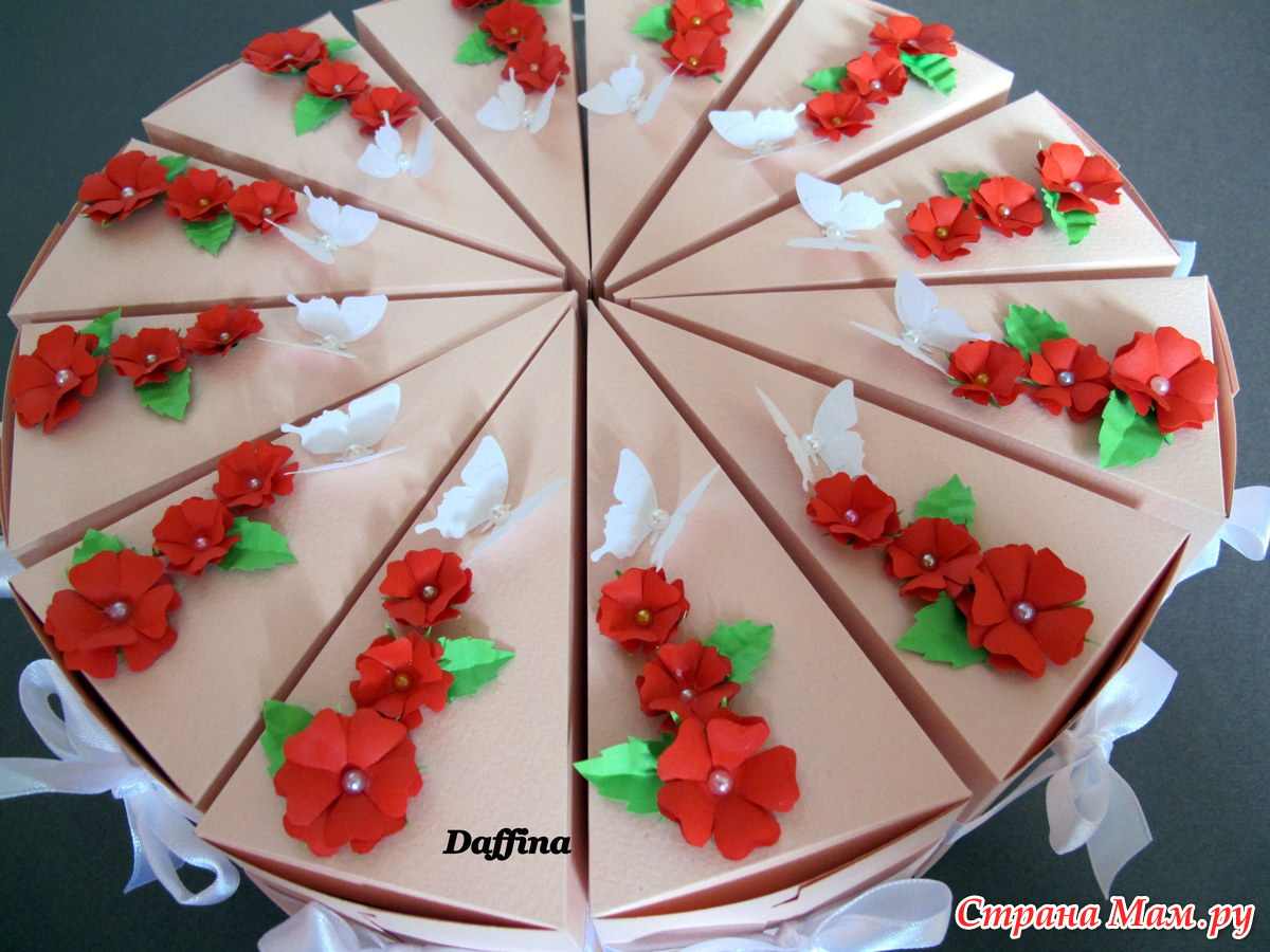 Тортик из цветной бумаги своими руками