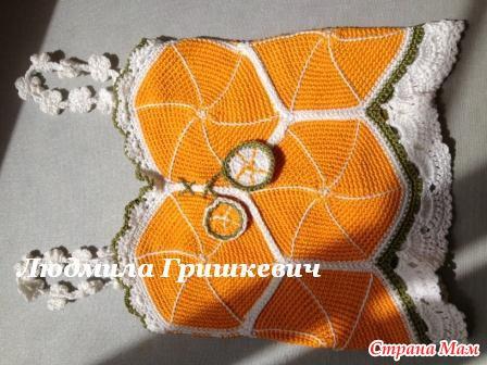 """钩针:""""柑橘""""儿童吊带背心 - maomao - 我随心动"""
