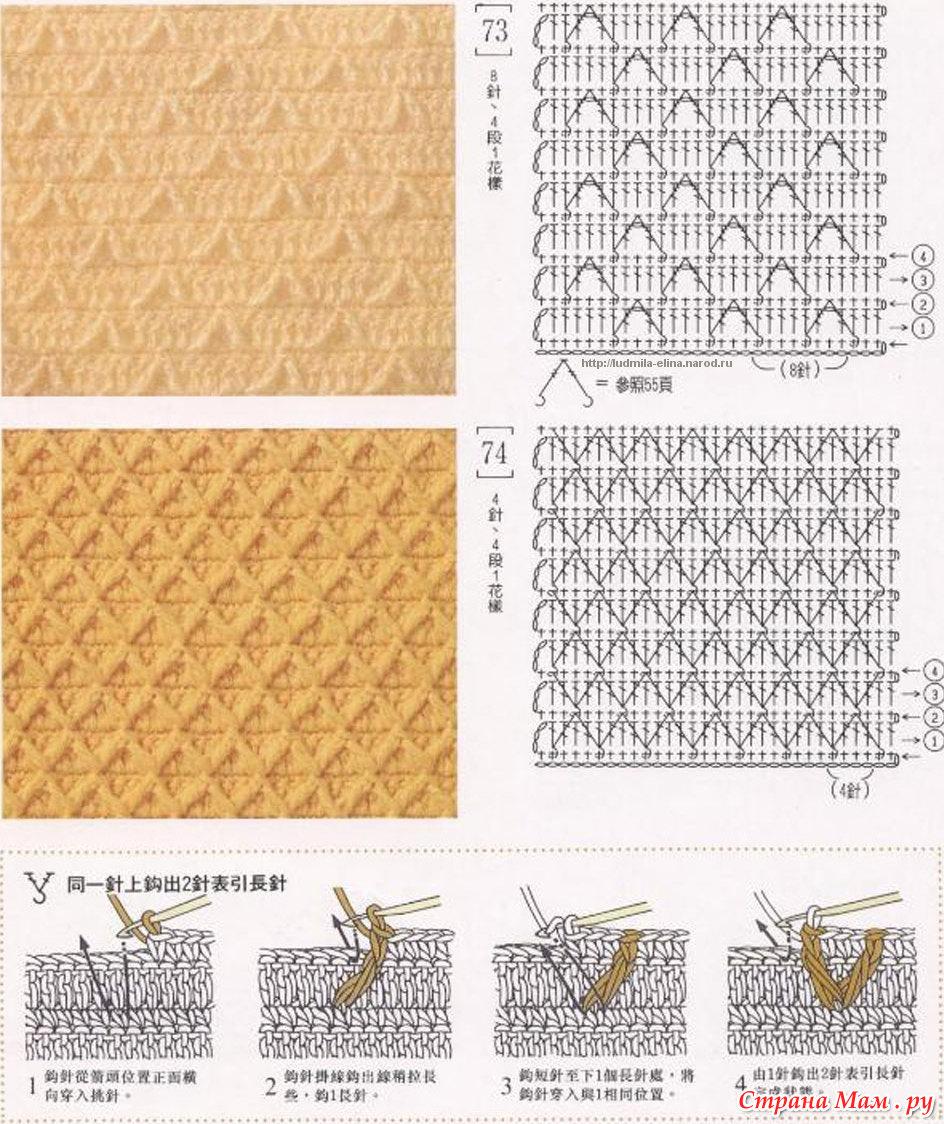 Вязание рисунки со схемами