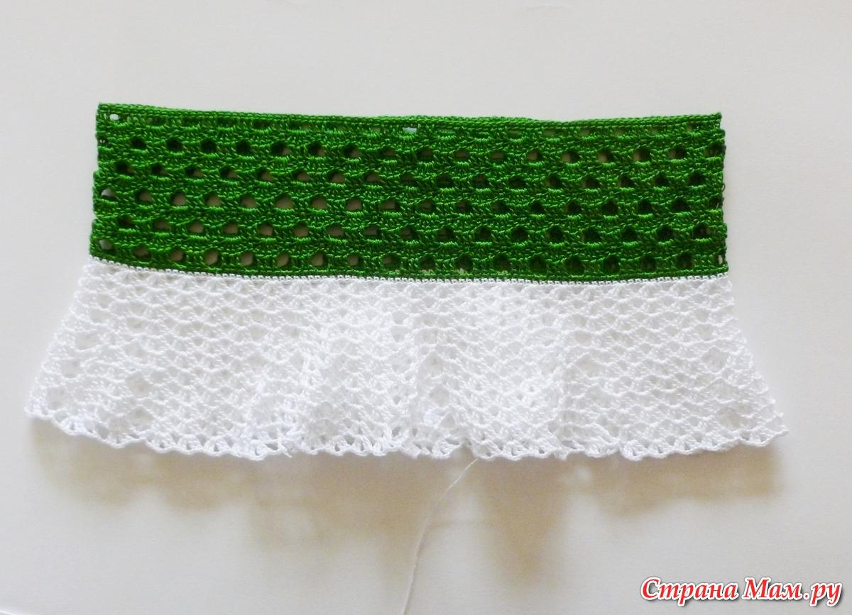 схема юбочки для девочек из мотивов крючком