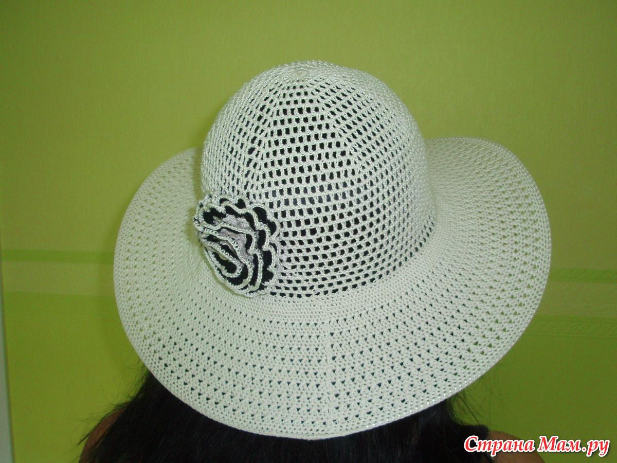 схема вязания шляпки с полями крючком