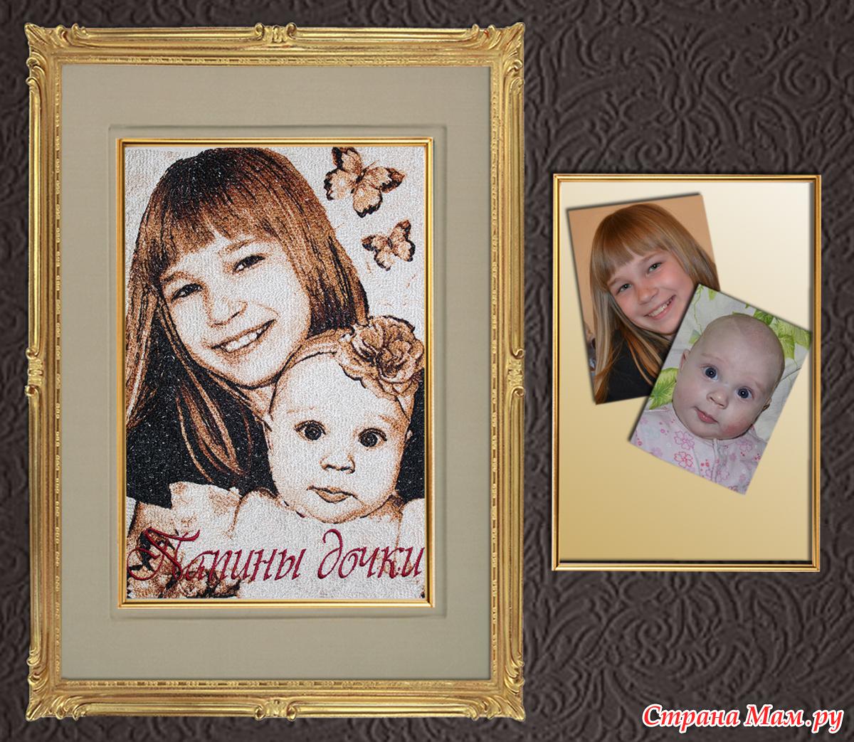 Вышивка крестиком портрет по фото
